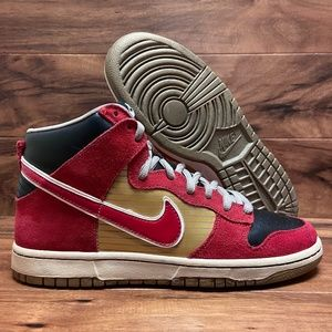 2010 Nike SB Dunk High Pro Tecate Gold / Red